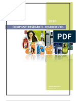 Marico Ltd.-company Research