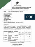 Actas Aclaratorias a Las Actas de Seleccion de Contratistas Segundo Semestre de 2011