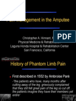 Pain Management in the Amputee