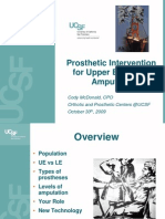Prosthetic Interventions in Upper Extremity Amputees