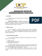 BR - UCP - GESTÃO DE EMPREENDIMENTOS TURÍSTICOS