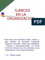 Balances de La Organizacion 2011