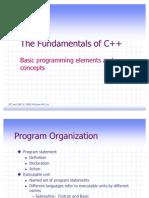 The Fundamentals of C++