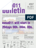 BOLETIN EASA011 [European Architecture Students Assembly] - CÁDIZ (ESP)