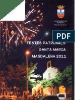 Festes Patronals Santa Maria Magdalena 2011 (Programa Mano)