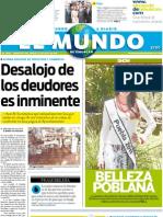 Portada El Mundo de Tehuacán 19 julio