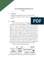 Atomic Spectroscopy Analysis