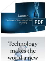 Roles of Educational Technology