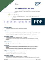 SAP Glossary Alphabetical