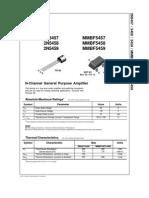 Data Sheet 2n5457 Jfet