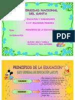 Principios de La Educac.