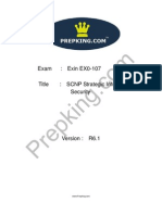 Prepking EX0-107 Exam Questions