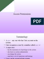 UNIX Access Permissions