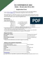 Registration Form RIdIM 2011 BMC