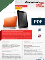 IdeaPad Tablet P1 Datasheet