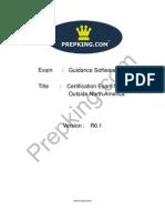 Prepking GD0-110 Exam Questions