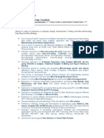 Praveen Micro Strategy Resume