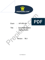 Prepking HP0-081 Exam Questions
