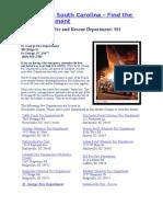 St George Fire Dept - St. George, South Carolina Emergency Numbers