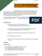 Cisco IP Phone Services SDK Overview