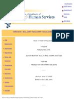 DHHS 45 CFR 46(번역할 자료)