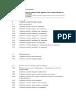List of Occupational Diseases