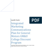 Integrated Marketing Communications Plan