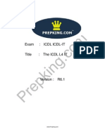 Prepking  ICDL-IT Exam Questions