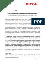 Ricoh Lança Programa de Optimização da Sustentabilidade