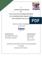 Project Report on Cipla (Gaurav Juneja) Recovered)