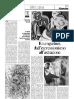 Baumgartner, dall'espressionismo all'astrazione