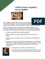 Warren Buffet investing habbits