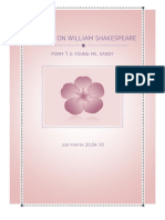 Project on William Shakespeare