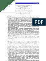 Uu No. 23 Tahun 2006 Tentang Administrasi Kependudukan