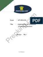 Prepking HP0-678 Exam Questions