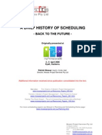 History of Scheduing