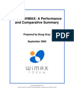 Mobile WiMAX - Performance and Comparative Summary
