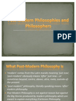 CHAPTER 5 Post Modern Philosophies and Philosophers
