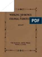 Working Drawings of Colonial Furniture - 1922