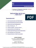 HEHNFINANZ Kundeninformation 08-09-13 Edelmetalle & Finanzsystem