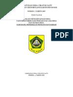 Perdes No. 2 Th. 2005 Alokasi Umum Keuangan Desa