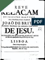 Breve Relação do Ilustre Martírio do Venerável Padre João de Brito