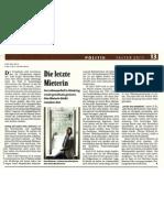 Die letzte Mieterin im Lobmeyrhof - Falter Artikel