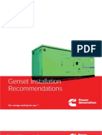 Genset Installation Guidelines