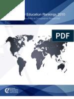 Global Higher Education Rankings 2010