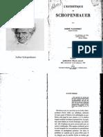 Fauconnet, L'Esthetique de Schopenhauer
