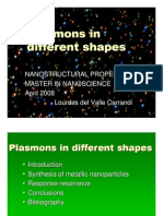 Plasmons in Different Shapes PPT.