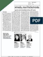 Cambia la formula ma Il ticket resta (La Repubblica)