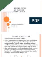 Teori Substitusi & Teori Transformasi Sumber