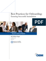 DBM Best Practices for Onboarding